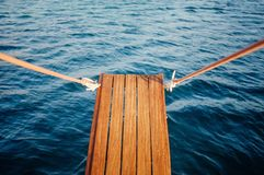 Wooden Gangplank over Water Stock Image