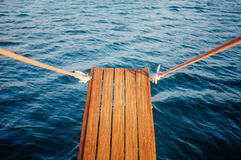 Wooden Gangplank over Water Royalty Free Stock Images