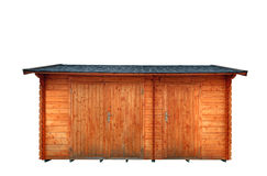 Wooden garage Royalty Free Stock Images