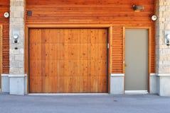 Wooden Garage Door Royalty Free Stock Photo