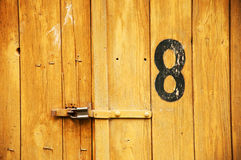 Wooden garage door Royalty Free Stock Images