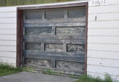 Wooden garage door Royalty Free Stock Photography