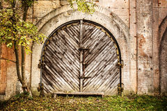 Wooden garage doors Royalty Free Stock Image