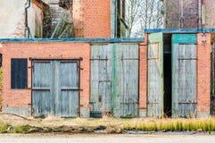 Wooden garage doors Stock Images