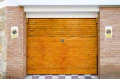 Wooden garage gate Royalty Free Stock Photos