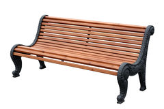 Wooden garden bench Stock Image