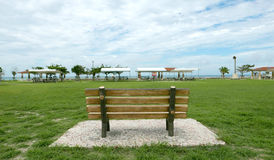 Wooden garden bench Royalty Free Stock Photo