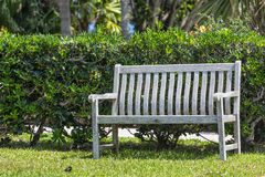 Wooden Garden Bench Royalty Free Stock Image