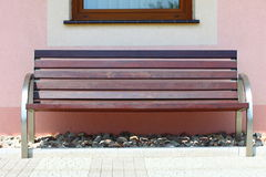Wooden garden bench Royalty Free Stock Photography