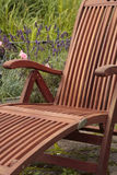 Wooden garden chair Stock Photo