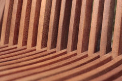 Wooden garden chair detail. Detail of wooden garden chair Royalty Free Stock Photography