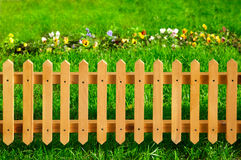 Wooden garden fence Stock Photos