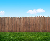 Wooden garden fence royalty free stock image