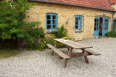 Wooden garden furniture - taking a rest Royalty Free Stock Images