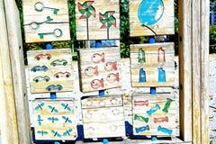 Wooden garden games Stock Photography