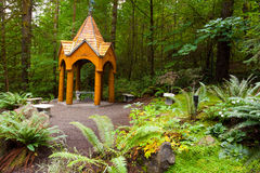 Wooden Garden Gazebo Royalty Free Stock Images