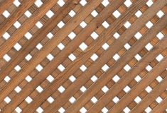 Wooden Garden Grid - white background Royalty Free Stock Photography