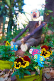 Wooden garden man Royalty Free Stock Photo