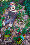 Wooden garden man Royalty Free Stock Images