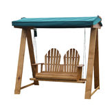 Wooden Garden Swing Seat Royalty Free Stock Photo