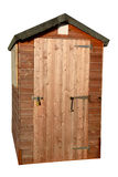 Wooden garden tool shed Royalty Free Stock Photo