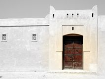 Wooden Gate. Ancient Wooden Gate in Fujairah Old city near Fujairah Castle, 400 years old Royalty Free Stock Photography