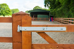 Wooden gate Stock Image