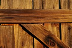 Wooden Gate Closeup Stock Photography