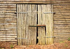 Wooden gate door to old barn Royalty Free Stock Image