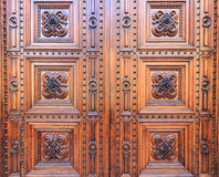 A wooden gate of the Florence dome Stock Image