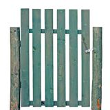 Wooden Gate Green Isolated Garden Fence Entrance Royalty Free Stock Photos