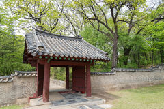 Wooden gate at the Jongmyo Shrine in Seoul Stock Photography