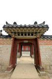 Wooden gate in Korean palace Royalty Free Stock Image