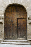 Wooden Gate. In a manor house in Segovia, Spain Stock Images