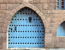 Wooden gate, middle ages , Spain Royalty Free Stock Image