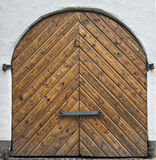 Wooden gate in old Riga city, Latvia Stock Images
