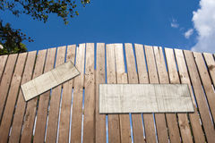 Wooden Gate with placard Stock Photography