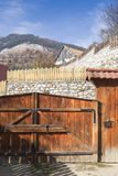 Wooden gate in Transylvania Stock Photo
