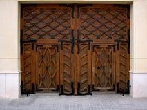 Wooden gates Stock Image