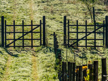 Wooden gates Stock Images