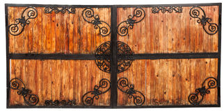 Wooden gates. Closed wooden gates background: can use as background Royalty Free Stock Photography