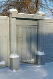 Wooden gates of an old house Stock Photos