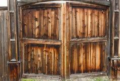 Wooden gates. Rustic wooden gates, Shushenskoye, Russia Stock Photos