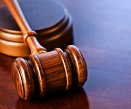 Wooden Gavel. A wooden judge's gavel Stock Photo