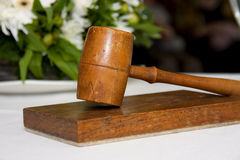 Wooden gavel Stock Image