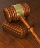 Wooden gavel Royalty Free Stock Photos