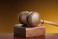 Wooden gavel Royalty Free Stock Photo
