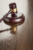 Wooden Gavel Abstract on Wood Desk Royalty Free Stock Photos