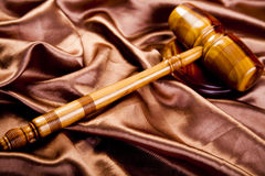 Wooden gavel barrister Royalty Free Stock Photography