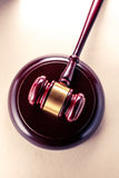 Wooden gavel and block Royalty Free Stock Photo